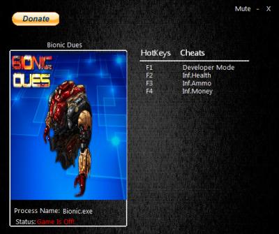 Bionic Dues cheats
