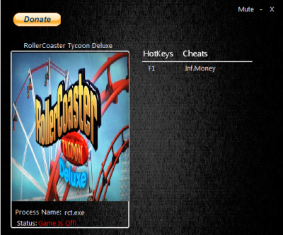 RollerCoaster Tycoon Deluxe cheats
