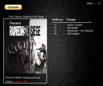 Tom Clancy's Rainbow Six Siege cheats