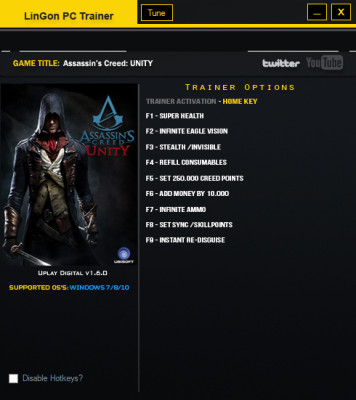 Assassin's Creed Unity cheats