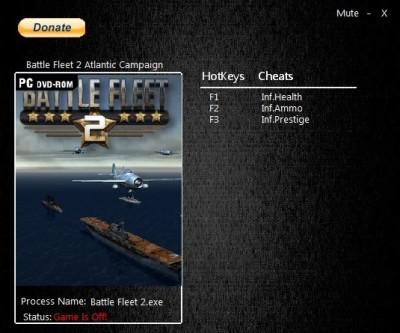 Battle Fleet 2 cheats