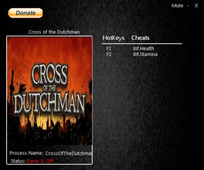 Cross of the Dutchman cheats