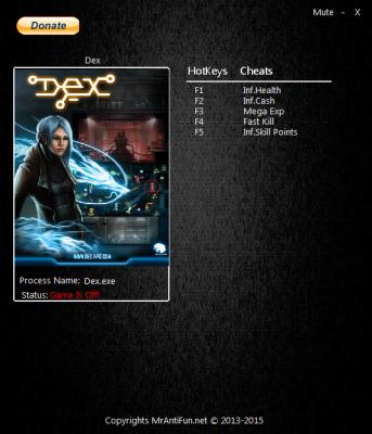 Dex cheats