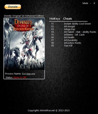 Divinity Original Sin cheats