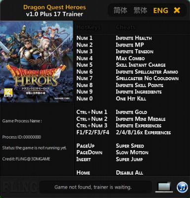 Dragon Quest Heroes cheats