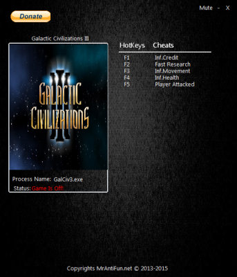 Galactic Civilizations 3 cheats