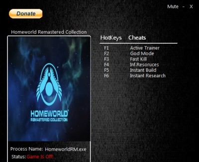 Homeworld Remastered Collection cheats