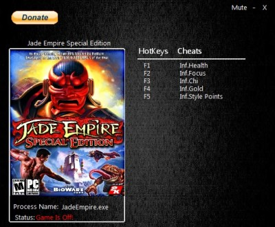 Jade Empire Special Edition cheats