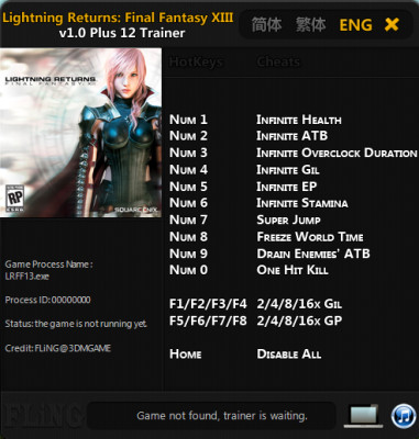 Lightning Returns Final Fantasy 13 cheats