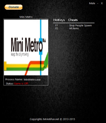 Mini Metro cheats