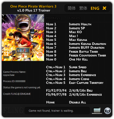 One Piece Pirate Warriors 3 cheats