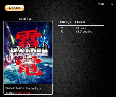 Raiden III Digital Edition cheats