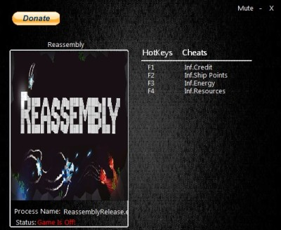 Reassembly cheats