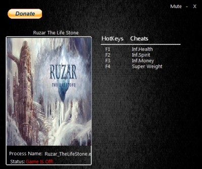 Ruzar The Life Stone cheats