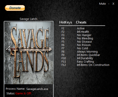 Savage Lands cheats