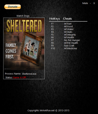 Sheltered cheats