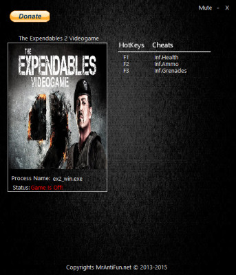 The Expendables 2 Videogame cheats
