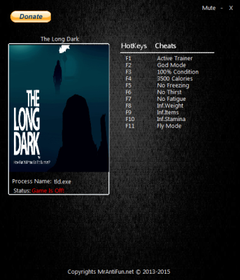 The Long Dark cheats