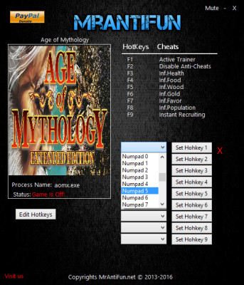 Age of Mythology Tale of the Dragon cheats