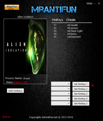 Alien Isolation cheats