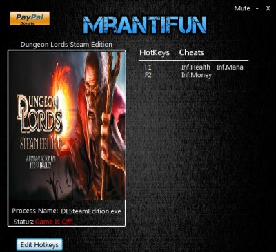 Dungeon Lords Steam Edition cheats