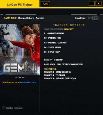 Gemini Heroes Reborn cheats