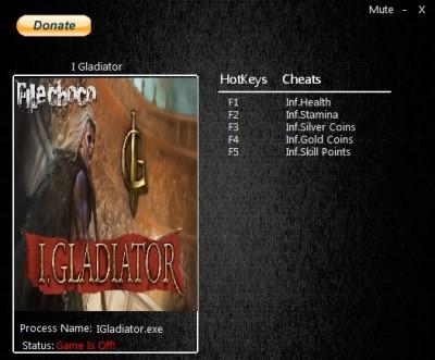 I Gladiator cheats