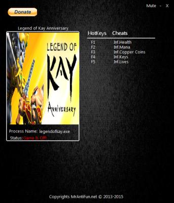 Legend of Kay Anniversary cheats