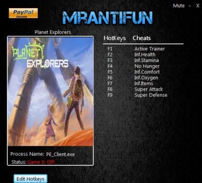 Planet Explorers cheats