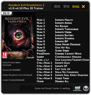 Resident Evil Revelations 2 cheats