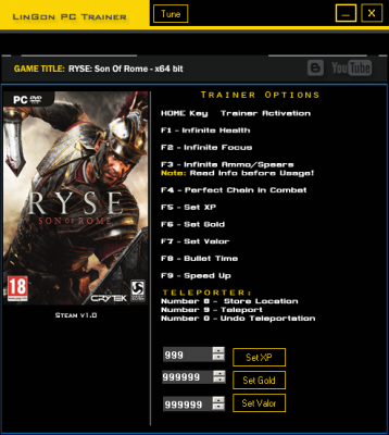 Ryse Son of Rome cheats