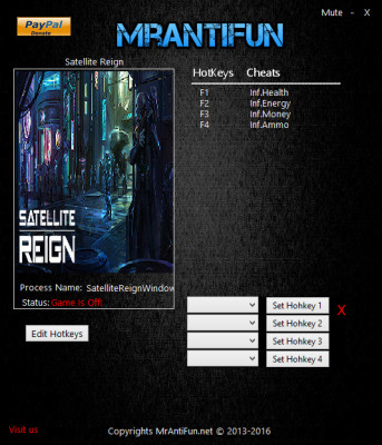 Satellite Reign cheats