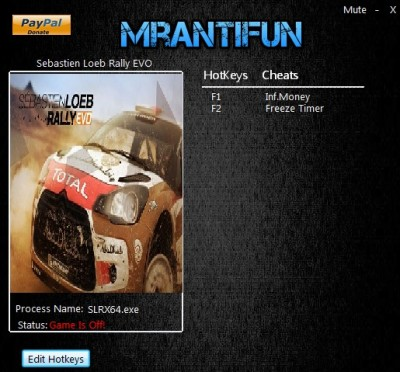 Sebastien Loeb Rally EVO cheats