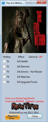 The Evil Within The Executioner cheats