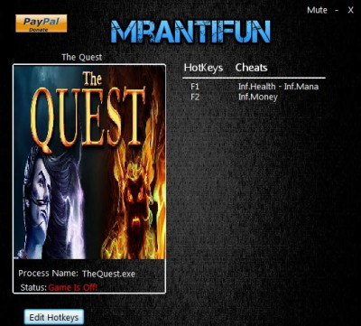 The Quest (2015) cheats