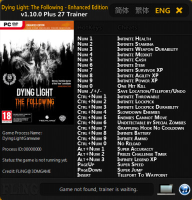 Dying Light The Following cheats
