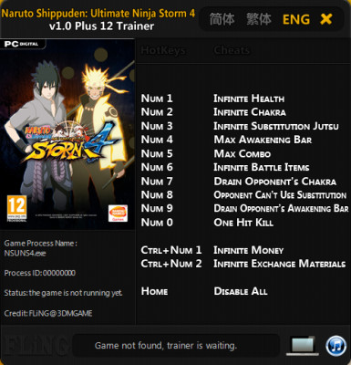 Naruto Shippuden Ultimate Ninja Storm 4 cheats