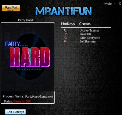 Party Hard cheats
