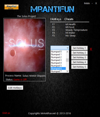 The Solus Project cheats