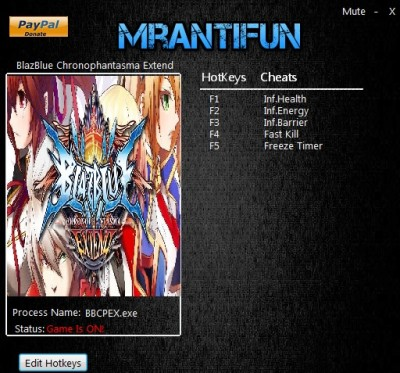 BlazBlue Chronophantasma Extend cheats