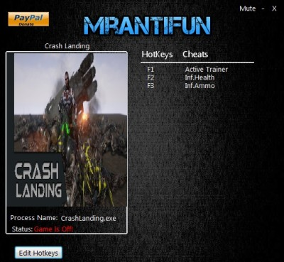 Crash Landing cheats