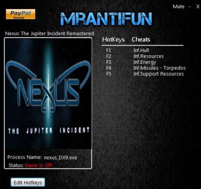 Nexus The Jupiter Incident Remastered cheats