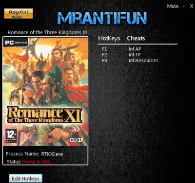 Romance of the Three Kingdoms cheats