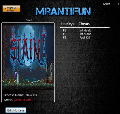 Slain! cheats