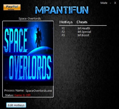 Space Overlords cheats