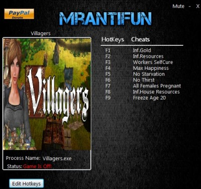 Villagers (2016) cheats