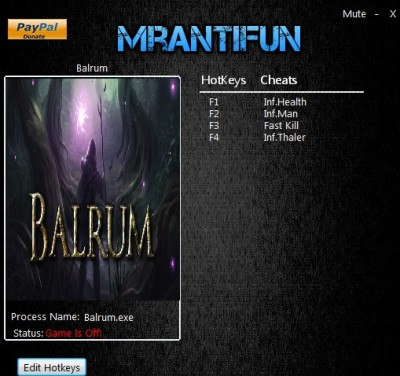 Balrum cheats