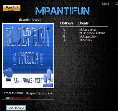 Blueprint Tycoon cheats