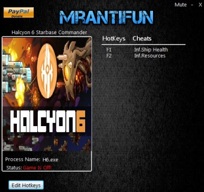 Halcyon 6 Starbase Commander cheats