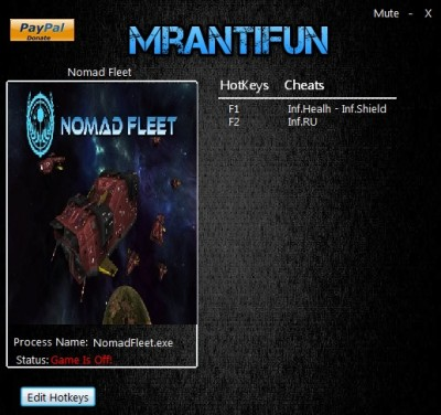 Nomad Fleet cheats